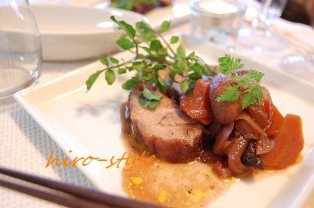 豚肉の赤ワイン煮込み*_c0128886_6293942.jpg