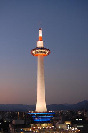 秋の京都タワー_a0115906_1672716.jpg