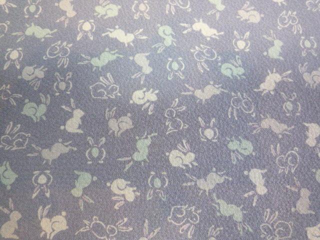 可愛いうさぎの江戸小紋と鳥獣戯画の染め帯。_f0181251_21193718.jpg