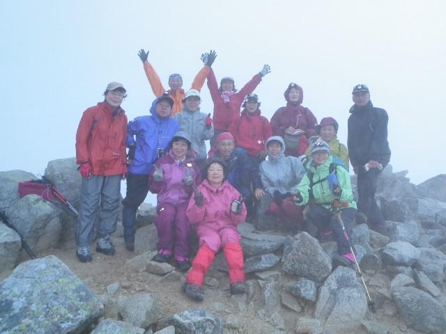 夏山登山ツアー 「北アルプス、黒部源流」 参加19名_d0007657_7461755.jpg
