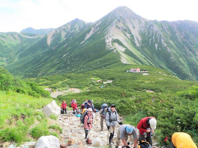 夏山登山ツアー 「北アルプス、黒部源流」 参加19名_d0007657_7581036.jpg