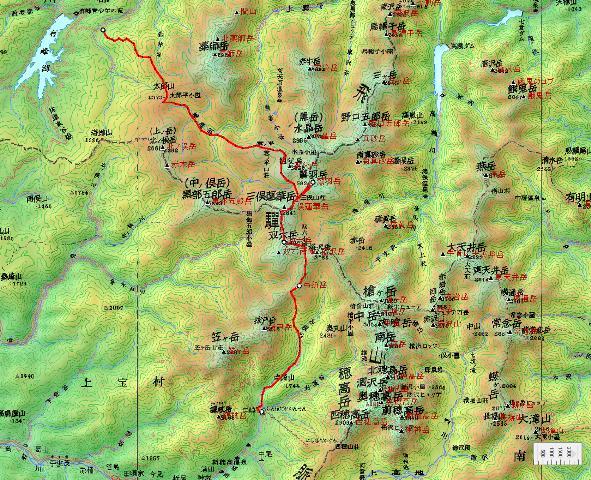 夏山登山ツアー 「北アルプス、黒部源流」 参加19名_d0007657_8351232.jpg