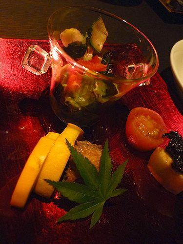 旬彩dining&bar 寅月 @ TOKYO SOURCE @ トビイ ルツ@恵比寿 夏の終わりのARTな宵に~♡*。:☆.。✝_a0053662_20434498.jpg