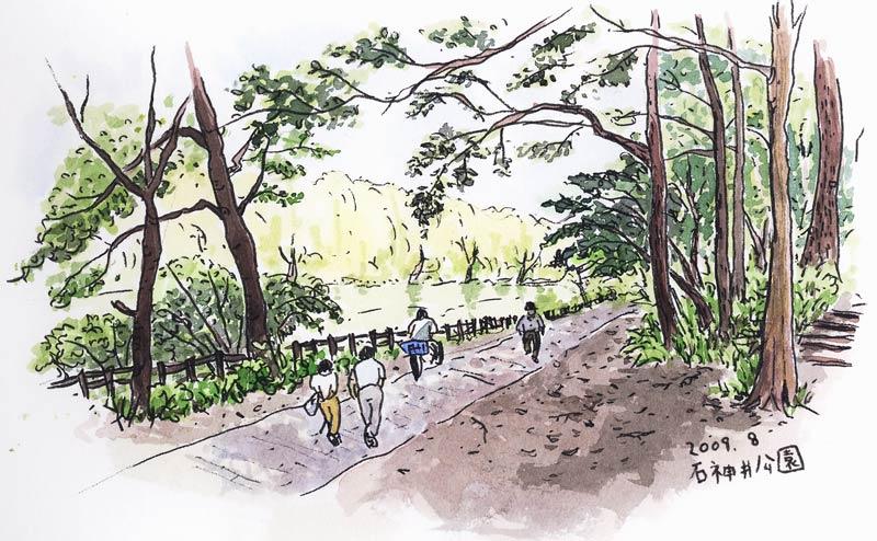 石神井公園スケッチ_f0072976_2151333.jpg