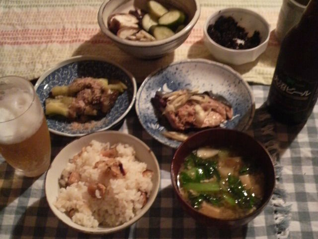 焼きナスと大沼ビール_f0052181_2271987.jpg