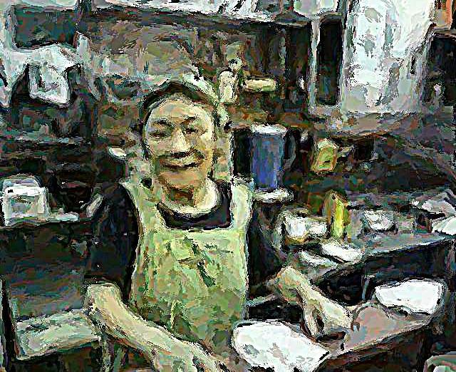 思い出横丁 若月さんからの写真を絵にしました。_c0074322_1527685.jpg