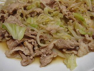 豚もやしキャベツのにんにく醤油炒め_c0025217_2131376.jpg