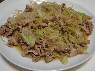 豚もやしキャベツのにんにく醤油炒め_c0025217_213747.jpg