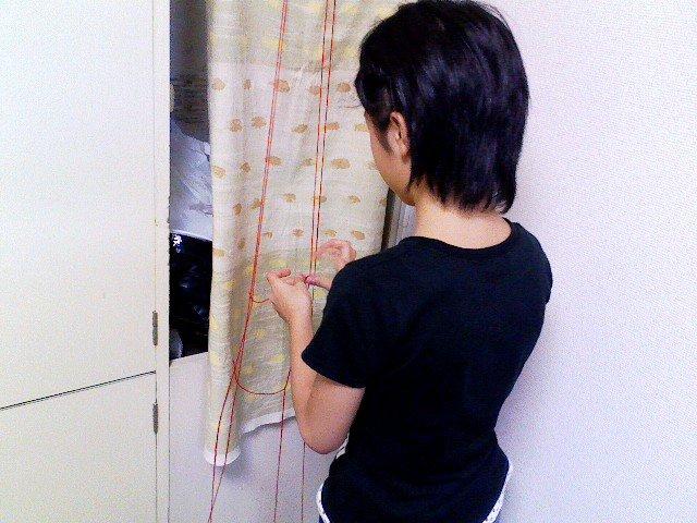 毛糸の線路、制作中_b0179725_13391719.jpg