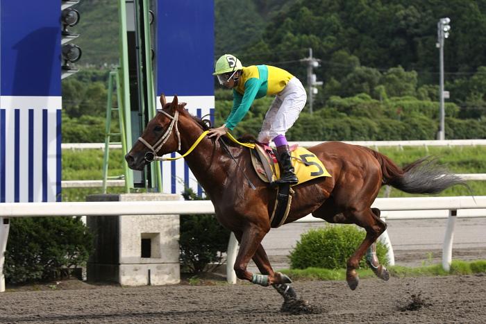 2009年8月10日(月) 高知競馬 2R D8 記者選抜 レース_a0077663_1913475.jpg