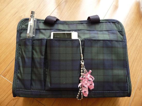 無印良品のナイロン製バッグインバッグ。1575円なり。