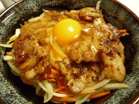 おうちご飯 豚丼&マジ旨!わさびキュウリ~♪_e0123286_1953872.jpg