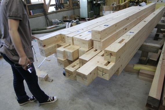 桜台の家:軸組の墨付け・刻み_e0054299_91836100.jpg