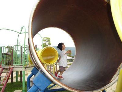 マコちゃん、大きい公園に行く!_e0166301_613689.jpg