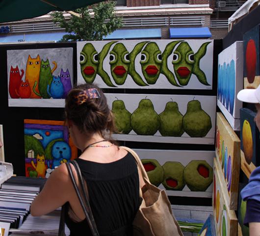 老舗の野外アート展示会、Outdoor Art Exhibit_b0007805_23165034.jpg