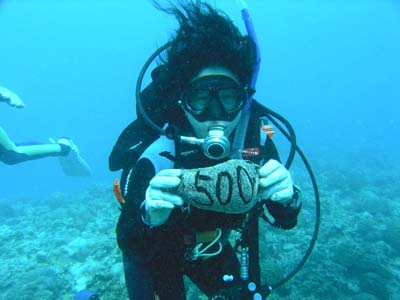 9月6日荒れててもきれいな海♪記念ダイブでおめでとう!!!_c0070933_21163746.jpg