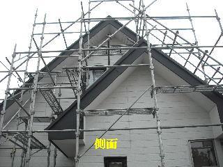 屋根塗装・初日_f0031037_21222975.jpg