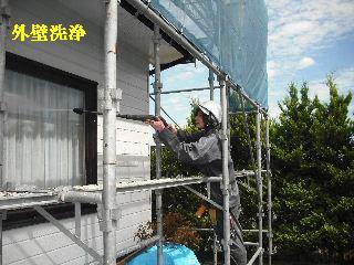 屋根塗装・初日_f0031037_21303477.jpg