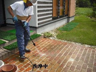 屋根塗装・初日_f0031037_21393783.jpg