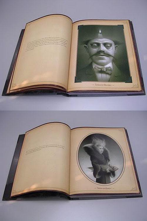アンチックな写真アルバムのようなトラヴィス・ルイの画集。_a0077842_16495035.jpg