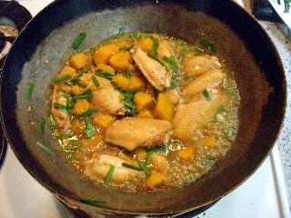 今日の夕飯はカボチャとチキンのウスターソース炒め_e0166355_17285394.jpg