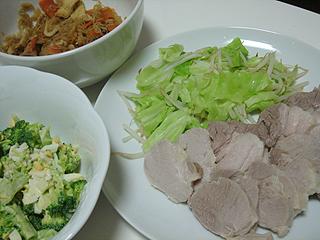 塩豚と切干大根とブロッコリーのサラダ_c0025217_0583574.jpg