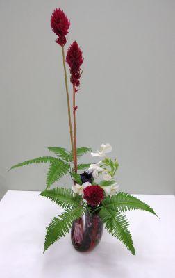 自作花器にいける_c0165824_2145517.jpg