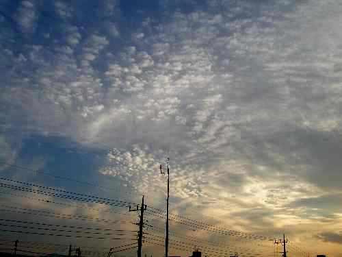 きょうの空 と おやつ。_b0157216_22501569.jpg