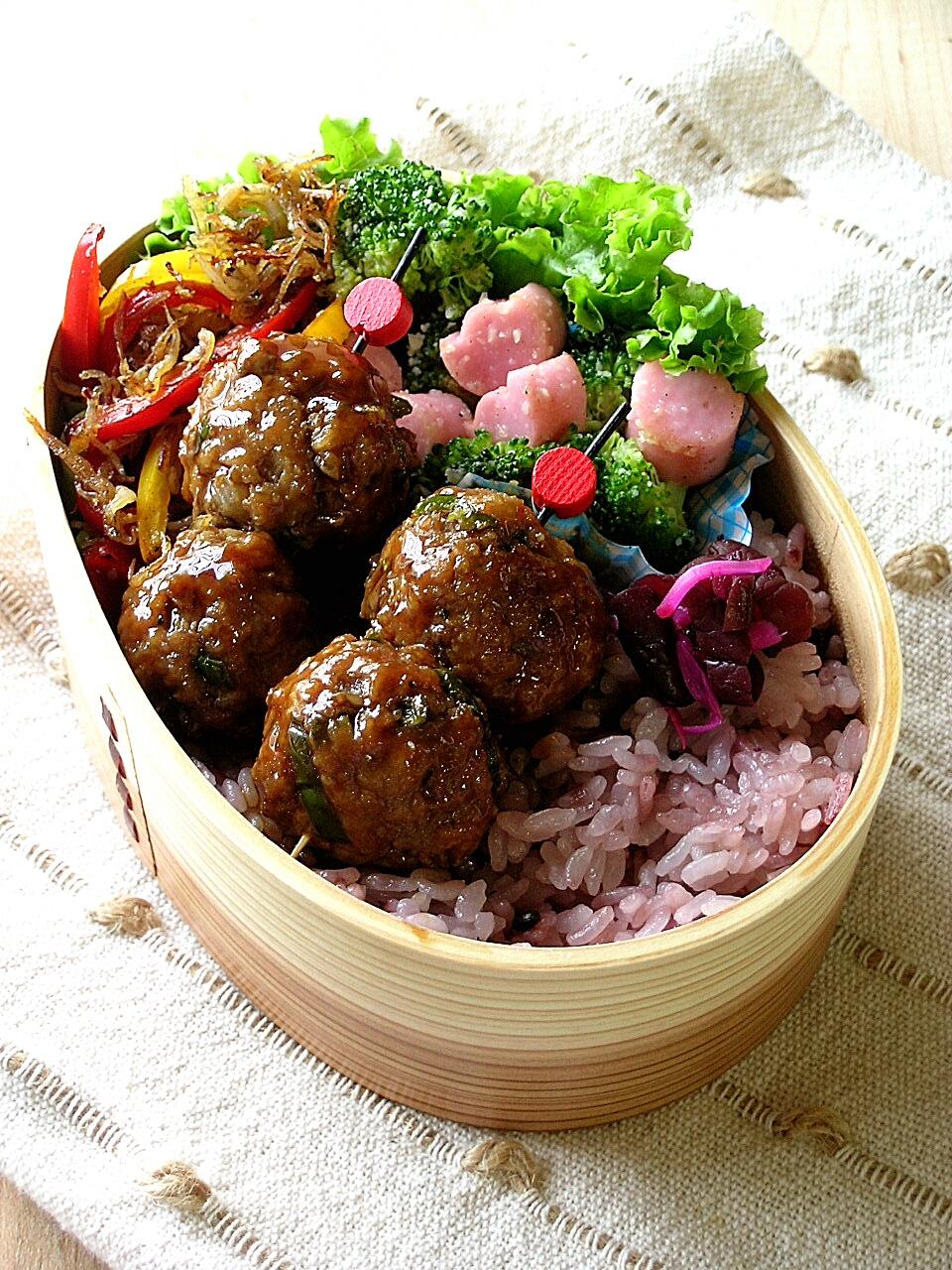 肉団子のお弁当_b0171098_8361696.jpg