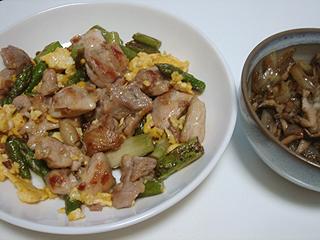 鶏もも肉とアスパラのマヨソテー_c0025217_1255507.jpg