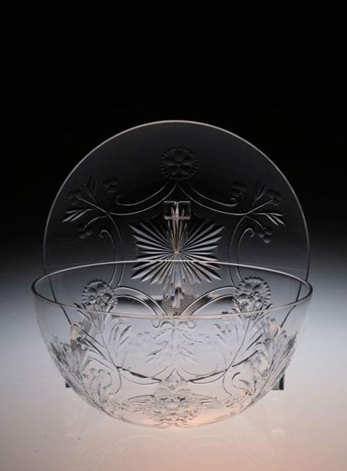 Baccarat Taillegravure Bowl&Saucer_c0108595_2243423.jpg