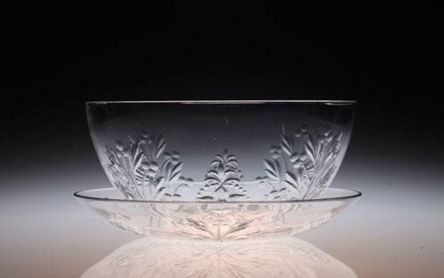 Baccarat Taillegravure Bowl&Saucer_c0108595_247328.jpg