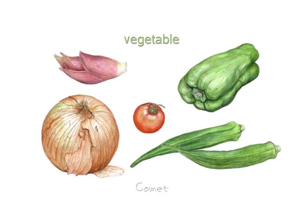 ポストカードにしてみました。その2 野菜_c0206645_23281535.jpg