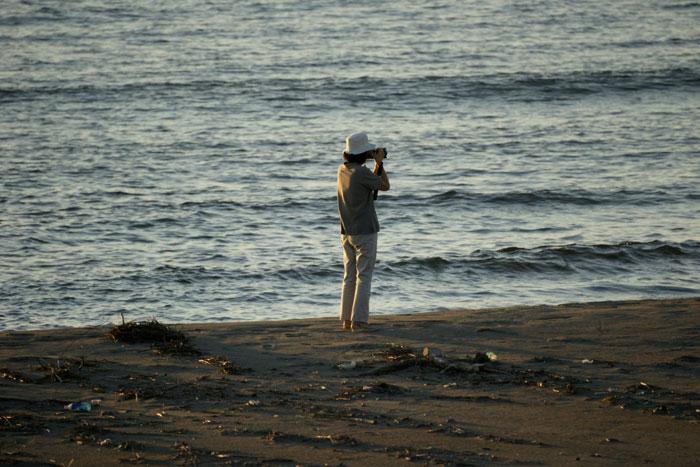 出来島海岸の夕日 (趣味人間)_a0136293_15523956.jpg