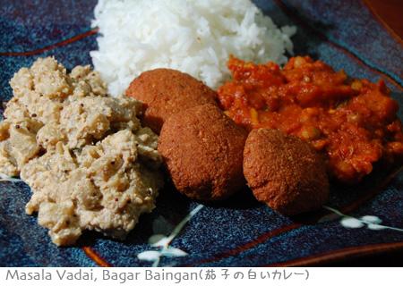 チャナ豆のファラフェル似、茄子の白いカレー_a0080964_16303930.jpg