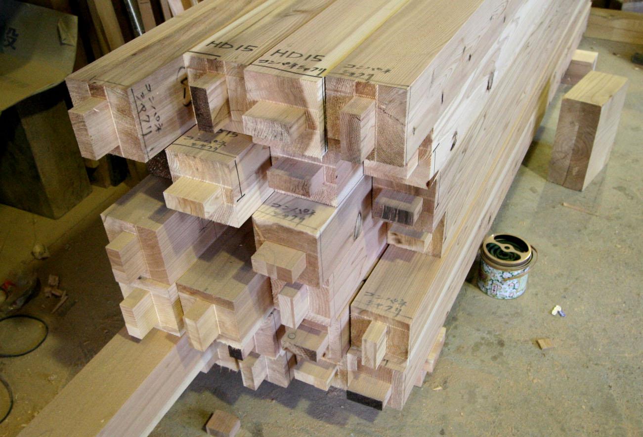 桜台の家:構造材の刻み_e0054299_10121970.jpg