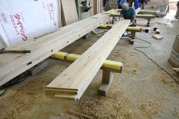 桜台の家:構造材の刻み_e0054299_10133983.jpg