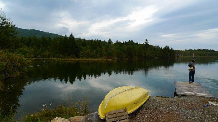 駒出池キャンプ場その2 白駒池 八千穂レイクで岩魚釣り!_d0108737_2136714.jpg