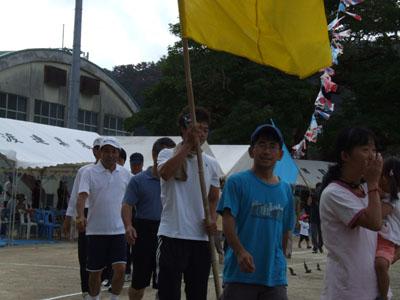 諸鈍小中学校「大運動会」、赤組頑張れ(った)! その1_e0028387_1331664.jpg