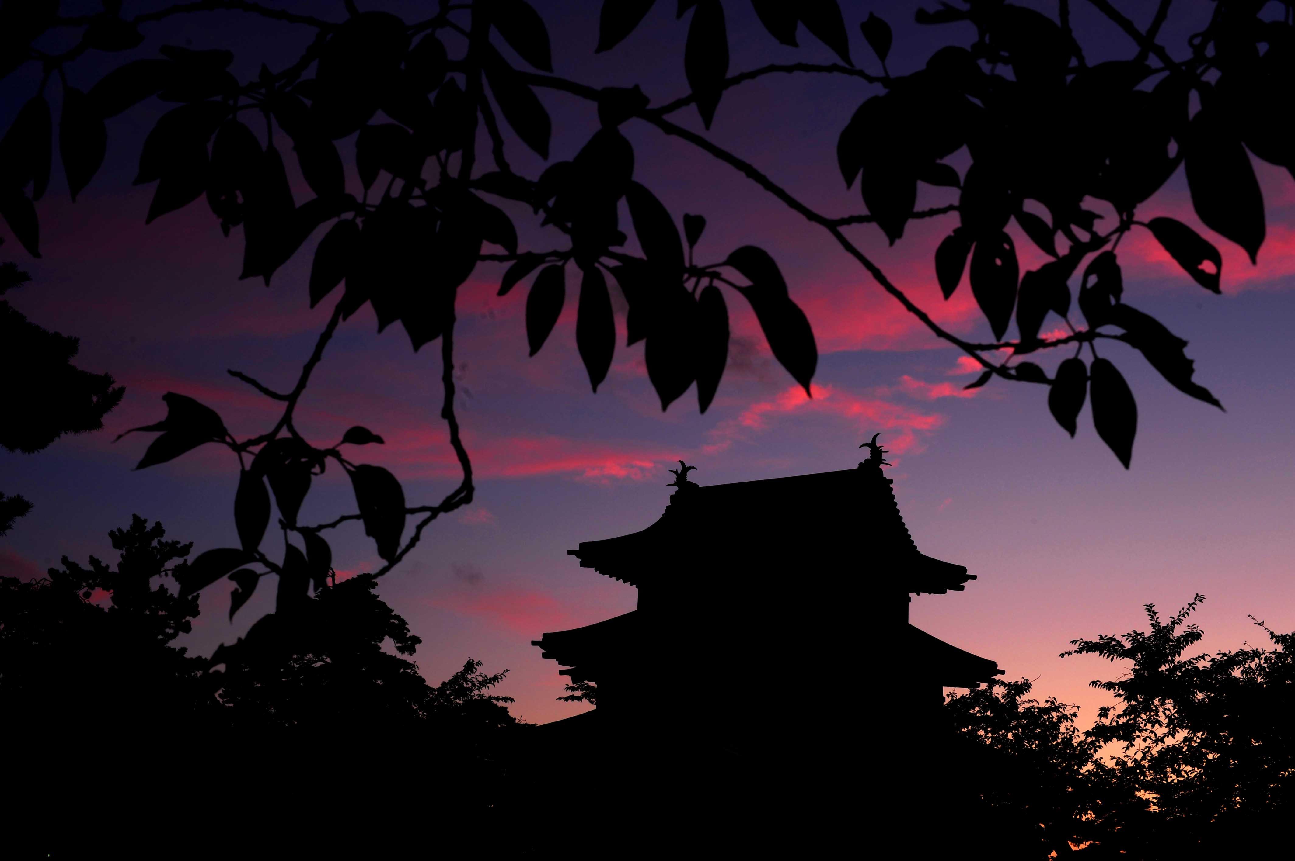 お城と夕焼け_e0157647_6274011.jpg
