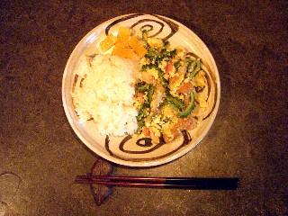 今日の夕飯はゴーヤーチャンプルー_e0166355_1743599.jpg