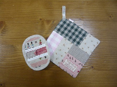 C.フリース雑巾&お皿つまみセット