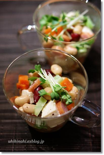 豆腐とお豆のシンプルサラダ_f0179404_21325813.jpg