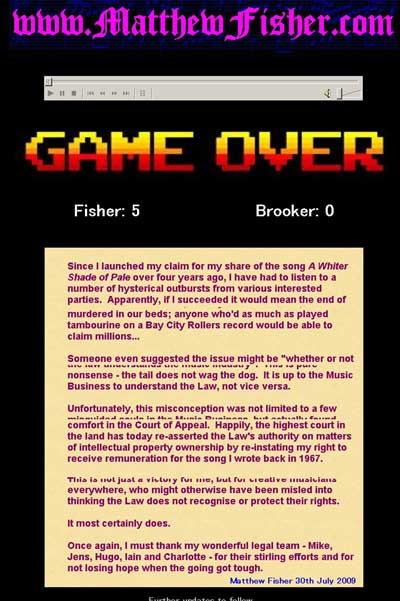 Play the Game by Matthew Fisher その1_f0147840_23551296.jpg
