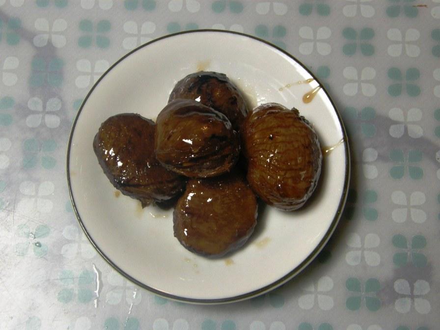 渋皮煮と秋刀魚の甘露煮_e0094102_9122353.jpg