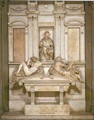 亡命王子が眠る墓標~メディチ家礼拝堂新聖具室_f0106597_21165668.jpg
