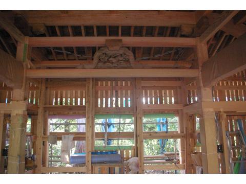 奥の院 内外壁の下地_c0100949_16402079.jpg