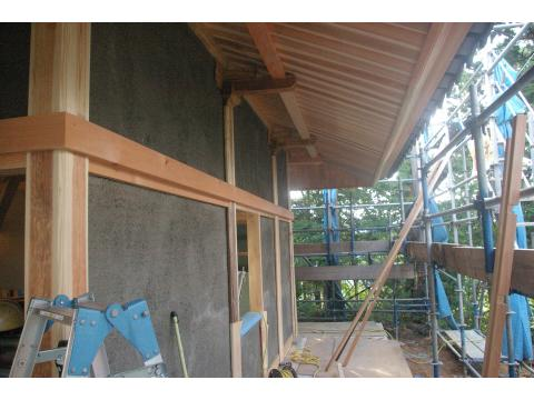 奥の院 内外壁の下地_c0100949_16412099.jpg