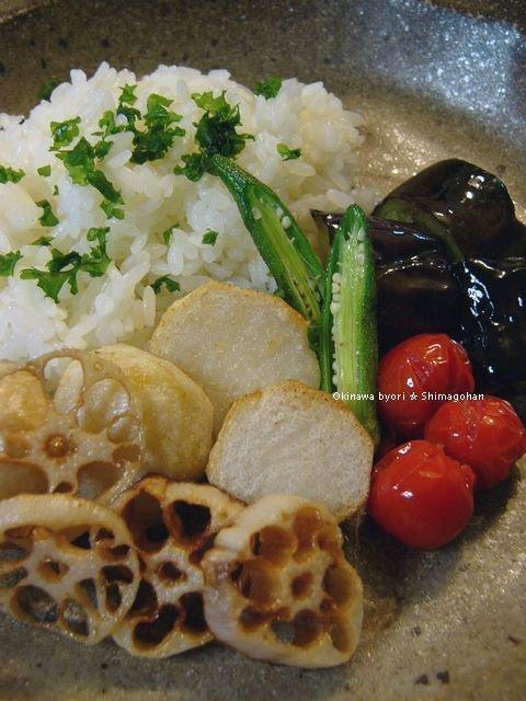 素揚げ野菜のスープカレー ☆ 中秋の名月♪_c0139375_14203235.jpg
