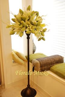 グリーン3種&白い花のアレンジ_b0151059_15364252.jpg